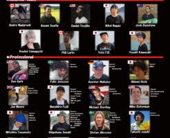 世界選手権の競技者リスト | フリースタイルスケートボードコンテスト