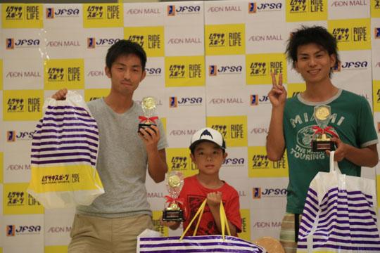 20180812浜松フリースタイルスケートボードコンテストオープンクラス入賞者