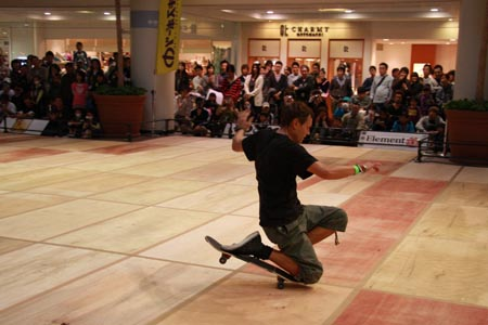 Guenter Mokulys FreestyleSkateboard Contest in Japan